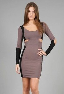 Donna Mizani Cut In Smoke Black Dress