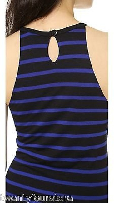 LNA Sleeveless Stretch Stripe Black Dress