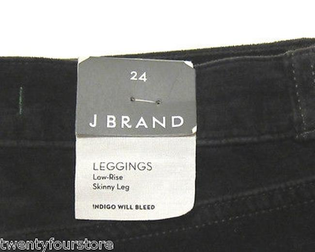 J Brand 901 Super Skinny Velvet In Black Forest Green Jeggings