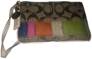 Coach Wristlet in multi