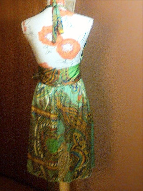 Paisley Multi color Maxi Dress by bebe Halter Silk Summer Night Out