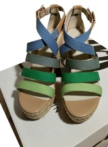 Nine West Green Multi Wedges