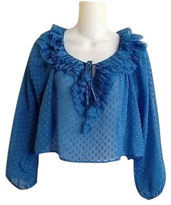 Rebecca Taylor Top peacock blue