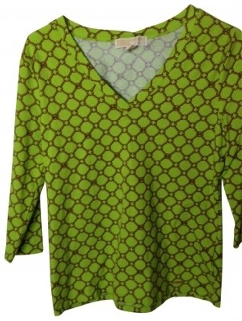 Preload https://item2.tradesy.com/images/michael-kors-lime-green-and-orange-tee-shirt-size-8-m-163656-0-0.jpg?width=400&height=650