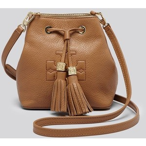 7a0d5be52a71 Tory Burch Thea Mini Bucket Cross Body Shoulder Strap Shoulder Mini Small  Leather Long Strap Tote
