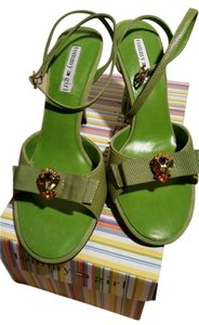 Tommy Hilfiger Green Multi Pumps