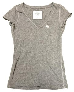 Abercrombie & Fitch V-neck Tshirt Top gray