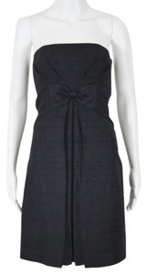 Ann Taylor Strapless Textured Silk Dress