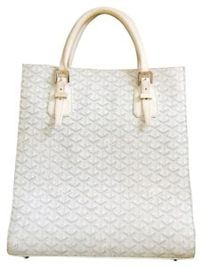 Goyard Leather Tote in White