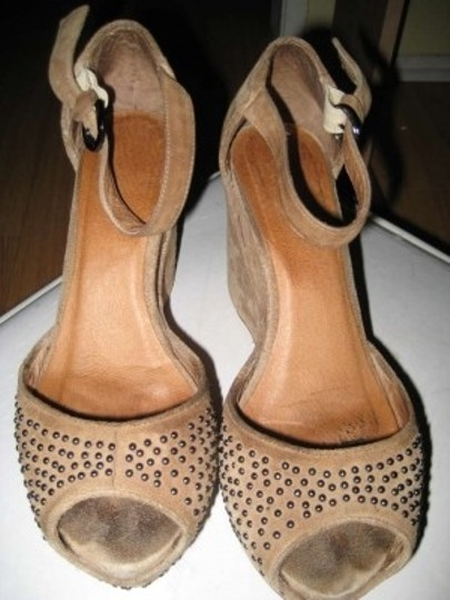 Jeffrey Campbell Studded Beige Platforms