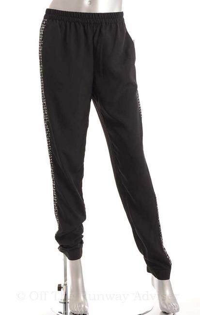 Kensie Relaxed Pants Black Combo White