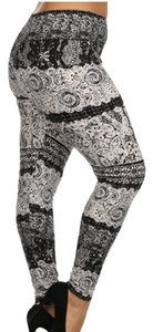Lace Plus Size White, Black, Gray Leggings