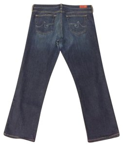 AG Adriano Goldschmied Capri/Cropped Denim-Medium Wash