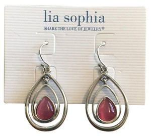 Lia Sophia lia sophia cotton candy silver pink earrings