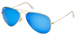 Ray-Ban Ray Ban Aviator RB3025 58mm 112/17 Gold with Blue Mirror Lens Sunglasses