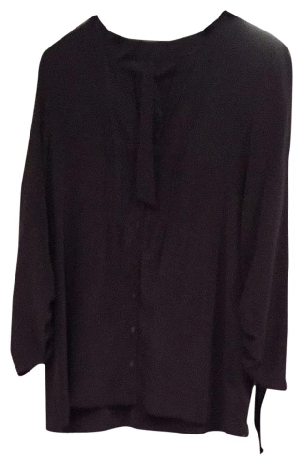 Anthropologie Charcoal Gray Blouse Size 12 L Tradesy