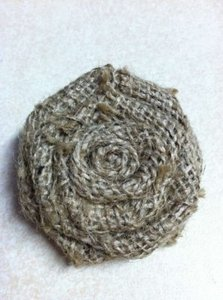 Burlap Rosettes Ceremony Decoration
