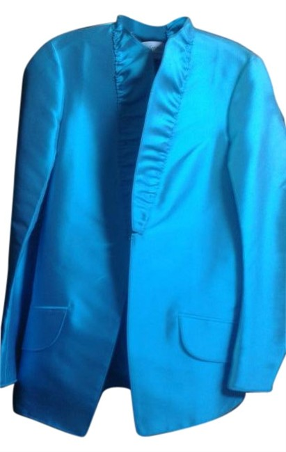Preload https://img-static.tradesy.com/item/16369111/saint-laurent-turquoise-yves-couture-jacket-size-8-m-0-1-650-650.jpg