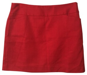 Ann Taylor LOFT Mini Lined Mini Skirt Red
