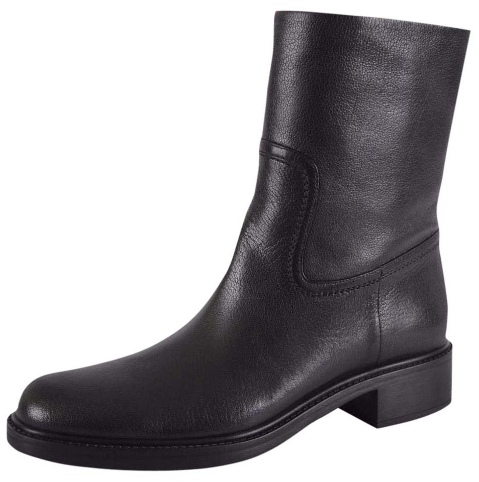 2328d26c3 Gucci Black New Women's 353762 Maud Leather Ankle 38.5 Boots/Booties ...