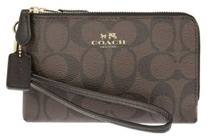 Coach Wristlet in Brown/Black