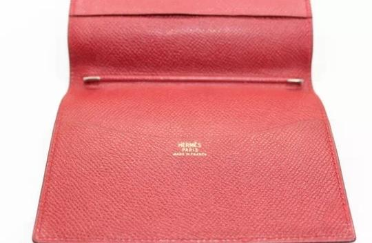 Hermès Authentic Hermes Agenda Leather Red