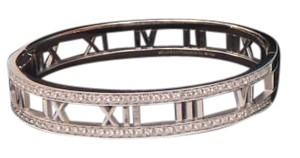 Tiffany & Co. ATLAS DIAMOND 18K WHITE GOLD BANGLE BRACELET NEW IN BOX