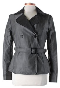 Emporio Armani Double-breasted Belted Slate Jacket