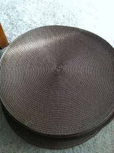 25 Brown Round Placemats Reception Decoration