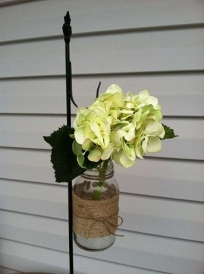 Michaels Green Silk Hydrangeas Reception Decoration