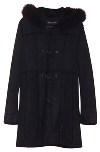Marc New York Faux Leather Shearling Fur Coat