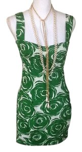 The Impeccable Pig short dress Green ,White on Tradesy