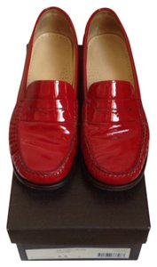 Cole Haan Comfortable Loafer Red Patent Leather Flats
