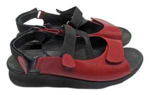 Wolky Comfortable Leather Red Sandals