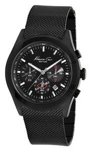 Kenneth Cole Kenneth Cole Male Dress Watch KC9183 Black Chronograph