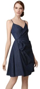 RED Valentino Sweetheart Bow Stretchy Denim Dress