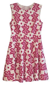 Diane von Furstenberg short dress White, pink on Tradesy