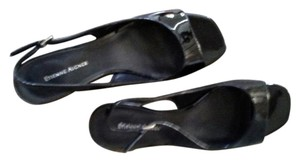 Etienne Aigner Shiny black Sandals