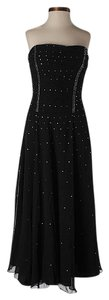 Betsey Johnson Silk Strapless Embellished Dress