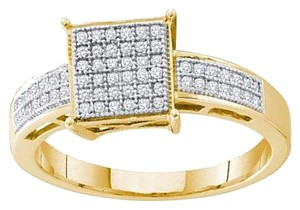 Other BrianG 10k YELLOW GOLD 0.18 CTTW DIAMOND MICRO PAVE FASHION RING