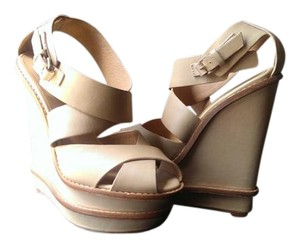 L.A.M.B. L.a.m.b Wedge Sandal Nude Wedges
