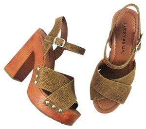 Lucky Brand Luck Mary Jane Sandal Brown Sandals