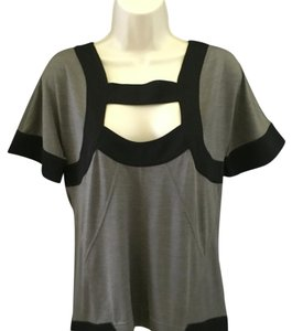 Diane von Furstenberg Top Black gray