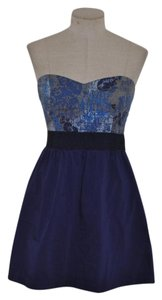Ecote short dress Blue Anthropologie Urban Outfitters Date Night Strapless on Tradesy