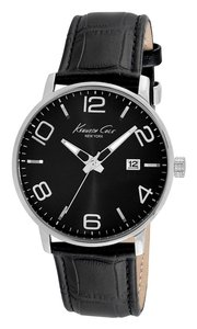 Kenneth Cole Kenneth Cole Male Dress Watch KC8005 Black Analog