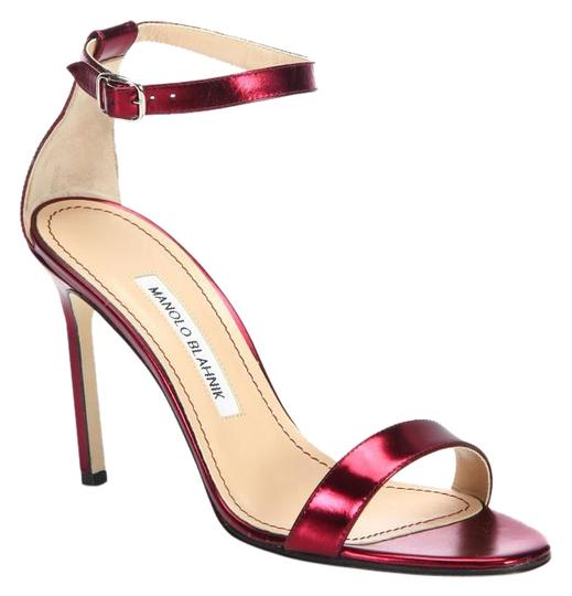 Preload https://img-static.tradesy.com/item/16372861/manolo-blahnik-red-metallic-patent-leather-ankle-strap-sandals-size-us-85-regular-m-b-0-1-540-540.jpg