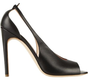 Rupert Sanderson Leather Slingback Black Pumps