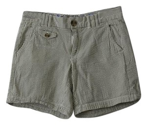 Banana Republic Shorts Green and White Striped