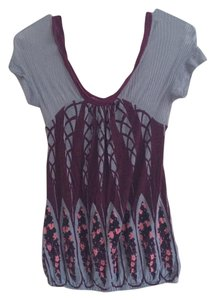 Free People T Shirt Blue and maroon