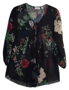 New York & Company Top Black, red, white, green